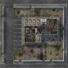 Hostel - Interior by MAGSouto on DeviantArt Tabletop Rpg, Tabletop Games, Fallout Map, Apocalypse, Pixel Art Background, Sci Fi Rpg, Rpg Map, Building Map, Cyberpunk Rpg