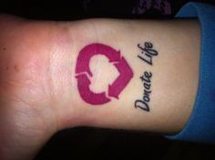 One of my tattoos. Organ Donation, Blood Donation, Medical Alert Tattoo, Dragonfly Tattoo, Life Tattoos, Tattoo Inspiration, I Tattoo, Tatting, Body Art