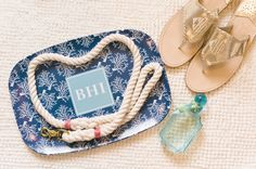 Wedding monograms! Southern Destination Wedding at The Shoals Club at Bald Head Island - Southern Bride & Groom