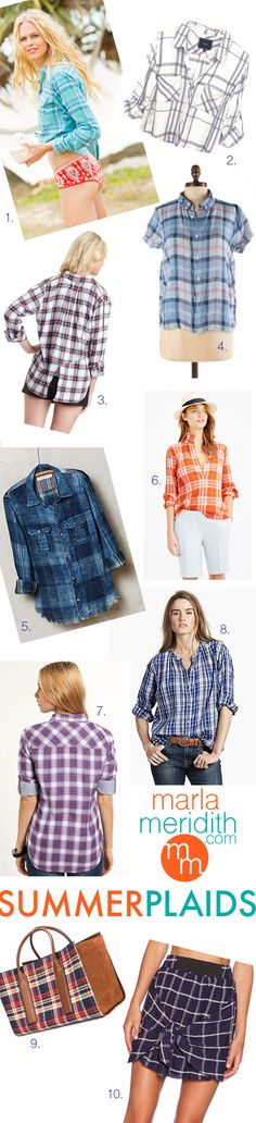 Summer Plaids! Always be in style with MarlaMeridith.com #MMstyle ( @marlameridith )