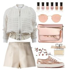 """casual"" by grinevagh ❤ liked on Polyvore featuring Superga, Marni, Ray-Ban, Deborah Lippmann, Chloé, Ermanno Scervino, 3.1 Phillip Lim and Laura Cole"