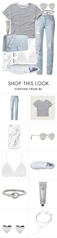 """Untitled #19845"" by florencia95 ❤ liked on Polyvore featuring Paige Denim, Abercrombie & Fitch, Christian Dior, Forever 21, adidas, Acne Studios and Bobbi Brown Cosmetics"