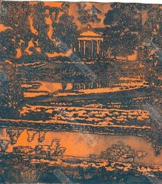 Studley Royal - Fountains Abbey (etching); by Jenny Massiah