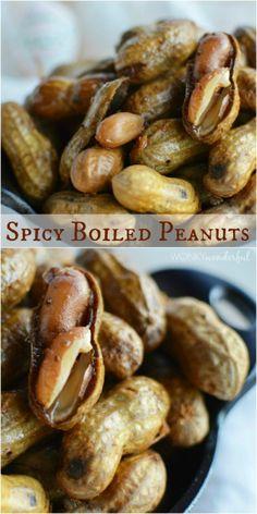 Spicy Cajun Boiled Peanuts Recipe - Southern Food - wonkywonderful.com
