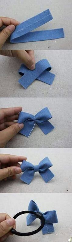 DIY ribbon hairband