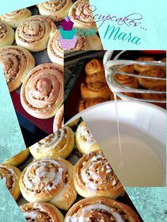 No solo cupcakes... con Mara : ROLLITOS DE CANELA CON NUECES - RECETA FACIL DE MASA LEVADA PARA DULCES Y SALADOS