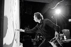 Live painting performance Live @ paradox, Tilburg NL