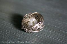 Bird Nest Necklace Tutorial