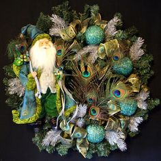 Christmas Wreath Large Wreath Holiday by PaulasCreativeFloral