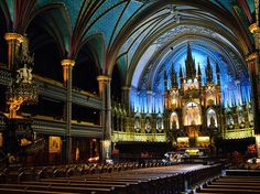 Free things to do in Montreal; Picture of the Notre-Dame Basilica in the heart of Old Montreal. Shared by Career Path Design. Old Montreal, Quebec Montreal, Montreal Travel, Montreal Ville, Quebec City, Paris Travel, Ottawa, Places To Travel, Places To See