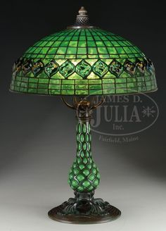Tiffany Studios Turtleback on Bloen-out Pineapple Base.