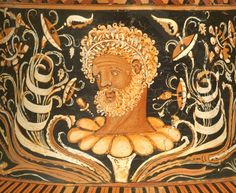 Detail of the Neck of a Large Apulian Red-Figure Volute Krater by the Baltimore Painter