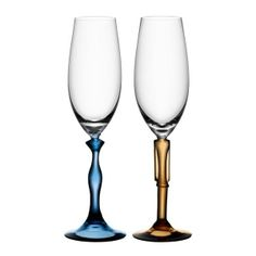 Kosta Boda Two of Us Champagne Flutes Pair ($250) found on Polyvore