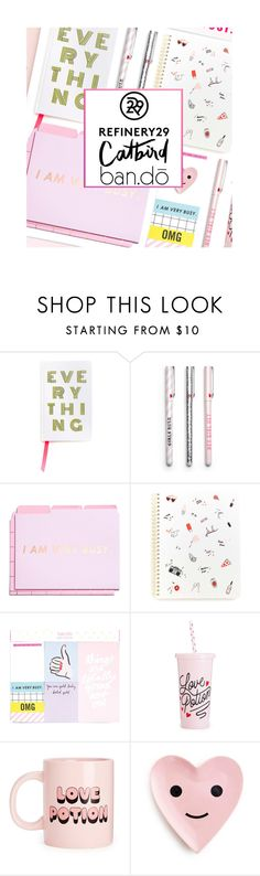 """""""Upgrade your chic with Refinery29"""" by kearalachelle ❤ liked on Polyvore featuring interior, interiors, interior design, home, home decor, interior decorating, ban.do, Refinery29, bando and Catbird"""