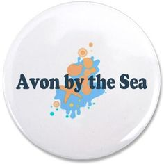 "Avon NJ - Seashells Design 3.5"" Button on CafePress.com"