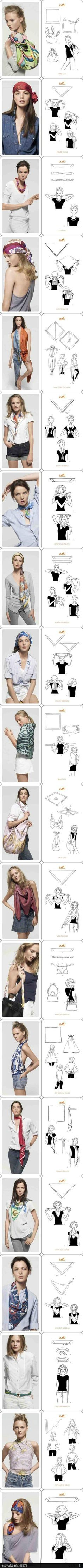 How to tie scarves - so many great ideas