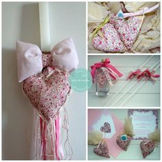 floral lavender hearts favors & christening accesories