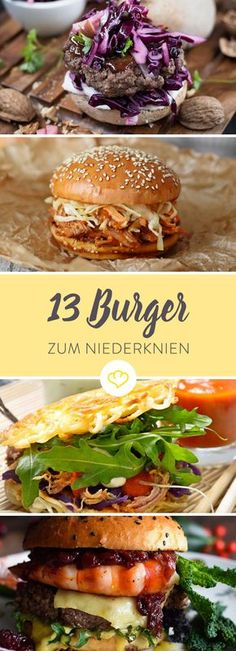 Burger recipes: 14 times great street food for at home- Burger Rezepte: 14 mal grandioses Streetfood für zu Hause If you have burgers, then right! With home-made buns, pulled pork and balsamic onions. Just as it should be for a real burger. Real Burger, Home Burger, Burger Co, Burger Buns, Burger On Grill, Burger Party, Great Burger Recipes, Grilling Recipes, Pork Recipes