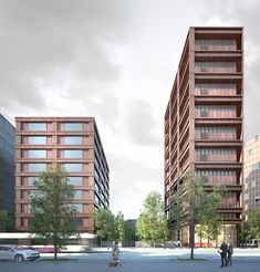LAN . EURONANTES complex . NANTES  (5) Lan Architecture, Multi Story Building, Exterior, Paris, Facades, Architects, Windows, Architecture, Nantes