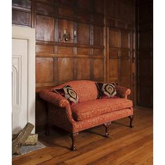 Congreve Sofa. A high backed sofa in carved acanthus scroll legs in the Chippendale style, formal and beautifully proportioned.