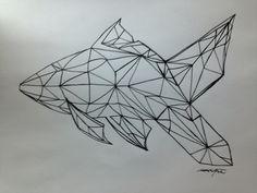 Geo fish Geo, Fish, Tattoos, Drawings, Projects, Log Projects, Tattoo, Drawing, A Tattoo