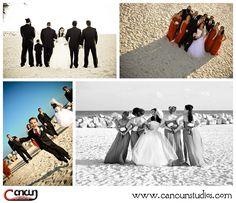 Bridal Party  Dreams Cancun Resort, Mexico  www.cancunstudios.com