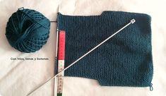 Con hilos, lanas y botones: DIY jersey con capucha para bebé paso a paso (patrón gratis) Baby Kimono, Pull Bebe, Baby Vest, Baby Knitting Patterns, Pulls, Crochet, Knitted Hats, Pullover, Sweaters