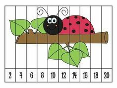 Number puzzles are great for helping students practice ordering numbers. Students will be able to self check and correct because the picture will not fit right unless the number order is correct. Autism Activities, Counting Activities, Spring Activities, Math Games, Preschool Math, Kindergarten Math, Kindergarten Preparation, Maths Puzzles, Number Puzzles