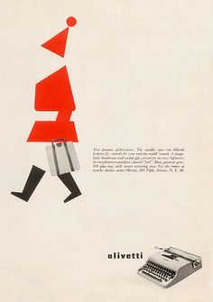 Olivetti Lettera 22 Christmas Advertising (1957)