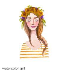 Watercolour girl 1
