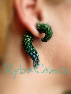 Fake ear gauge  Faux gauge/Gauge earrings/plug by RybaColnce, $31.00