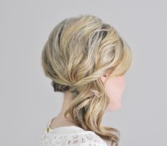 Step 5 | Twists of hair in the back of the head cleverly secure this pretty upgrade of the plain-Jane pony, created for Real Simple by The Small Things blogger Kate Bryan.