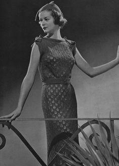 Lace Dress Vintage Knitting Pattern PDF of by VintagePatternPlace