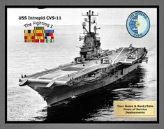 Essex Class, Uss Intrepid, Operation Desert Shield, Navy Aircraft Carrier, Bay Photo, Us Navy Ships, United States Navy, World War Ii, Fine Art