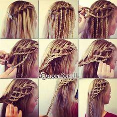 Cute braided hairstyle. It looks kind of elvish