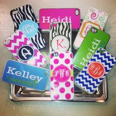 Awesome Phone case covers, personalized of course! Ready to order: 850-460-2700