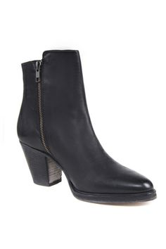 Husk   Washed Ankle Boot in black