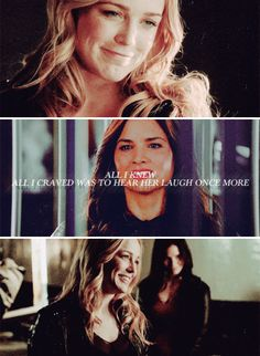 """""""When Sara was first brought before my father, the moment he weighed her apprenticeship or her execution, she bore witness to a demonstration of his power, one that inspired terror in all who had come before, but Sara…laughed. It was so innocent, so genuine. That was the moment I fell in love with her, I think."""" #arrow"""