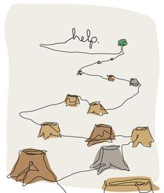 Stop Deforestation Poster by James Melton, via Behance