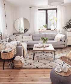If you are looking for Scandinavian Living Room Design Ideas, You come to the right place. Below are the Scandinavian Living Room Design Ideas. Beautiful Living Rooms, Cozy Living Rooms, Home Living Room, Living Room Designs, Small Living Room Kitchen Ideas, Living Room Decor With Grey Couch, Living Room Apartment, Grey Home Decor, Living Room With Carpet