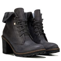 White Mountain Jay Jay Lace Up Boot Charcoal
