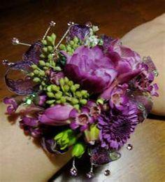 Purple Wrist Corsage : Joseph N'dour