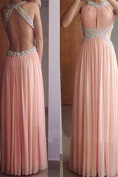 Backless prom dresses, blush pink prom dresses, long prom dresses, sexy prom dress, chiffon prom dresses#prom #fashion #mermaid #dress #dressbarn #promdress #okdressesy #style #love #elegant #promgown #promdresses #style #events #evening #eveningwear #party #partyideas #rhinestones #gowns #bridesmaid #lace #lacedress