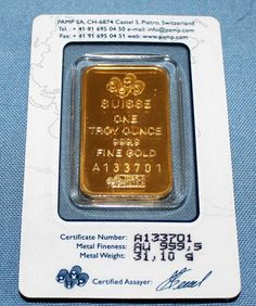 1 Oz Gold Bar Pamp Suisse Lady Fortuna 999 9 Fine
