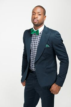 """Check out Dwyane Wade's fancy bow ties, neck ties, pocket squares and more with """"The Dwyane Wade Collection"""" at The Tie Bar."""