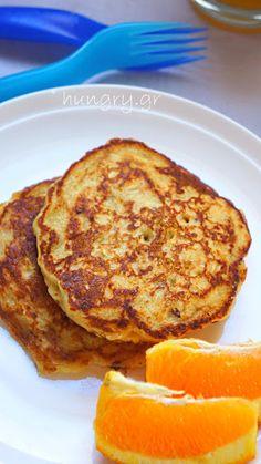 Πανκέικς με Πορτοκάλι & Νιφάδες Βρώμης Healthy Sweets, Breakfast Recipes, Pancakes, French Toast, Brunch, Diet, Snacks, Cooking, Tartan