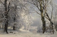 Artwork by Anders Andersen-Lundby, FOREST IN WINTER, Made of oil on canvas