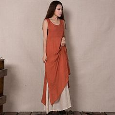 Women s Sexy Beach Casual Party Work Round Sleeveless Dresses (Others) 036a5c7ffe6