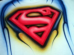 Con aerógrafo aerógrafo Superman T camiseta por BradfordPollack