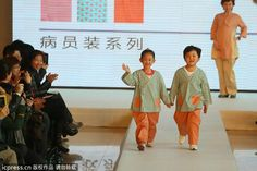 Children present new patient clothing for kids during a fashion show in Beijing on April 1, 2013.[Photo/icpress]